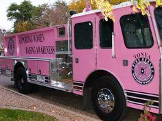 Photo from Pink Heels, Inc. Pink Truck, Make Your Mark, Fire Trucks, Breast Cancer Awareness, Healing, Pink Heels, Fire Engine, Fire Truck