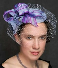 Lilac silk fascinator with coordinating ribbon trim, pale lilac veiling, and hand formed silk flowers. www.liftedmillinery.com Silk Flowers, Fascinator, Thrifting, Lilac, Photo And Video, The Originals, Ribbon, Beautiful, Jewelry