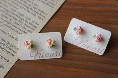 2色の小花のピアス |kinari タティングレース てしごと日記