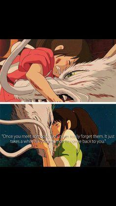 Spirited Away. My fav Miyazaki Film Hayao Miyazaki, Studio Ghibli Quotes, Studio Ghibli Movies, Chihiro Y Haku, Manga Quotes, Another Anime, Howls Moving Castle, Spirited Away, My Neighbor Totoro