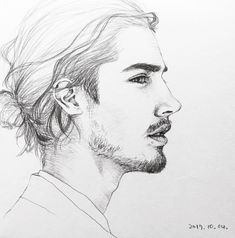 sketches of love Boy Sketch, Face Sketch, Sketch Art, Pencil Art Drawings, Art Drawings Sketches, Cool Drawings, Guy Drawing, Character Drawing, Profile Drawing