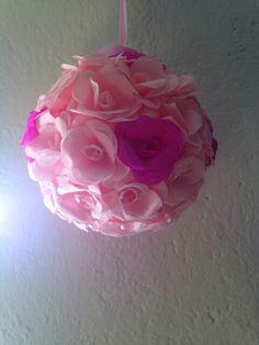 Topiario di rose carta crespa