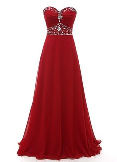 Strapless Floor Length Chiffon Prom Dress With Beading – Promtailor Homecoming Dresses, Bridesmaid Dresses, Bridesmaids, Christmas Wedding Dresses, Burgundy Formal Dress, Promotion Dresses, Fancy Gowns, Formal Dresses For Women, Dance Dresses
