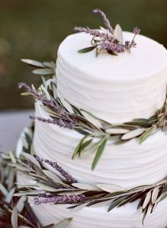 rosemary and lavendar wedding cake