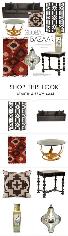 """""""Eclectic Decor - Global Bazaar"""" by kathykuohome ❤ liked on Polyvore featuring interior, interiors, interior design, home, home decor, interior decorating, homedecor, globalbazaar and eclecticfurniture"""