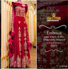 Indo western dress combining the elements of fashion and craftsmanship! Western Dresses, Western Outfits, Exclusive Collection, Designer Dresses, Special Occasion, Glamour, Photo And Video, Studio, Womens Fashion