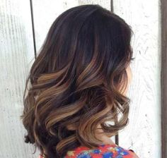 Image result for dark brown hair with caramel lowlights
