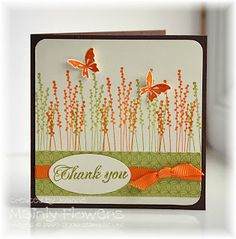 Mainly Flowers Independent Stampin' Up! Demonstrator Joanne Gelnar: Little Pumpkin Butterflies. Pocket Silhouettes, Live Your Dream, and Fresh Cuts stamp sets.