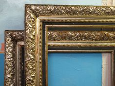 14x16+Large+Old+Custom+Gold+Picture+Frame+Framed+by+GeorgeAllaSher