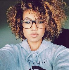 Ombre Haircuts For Natural Curly Hair