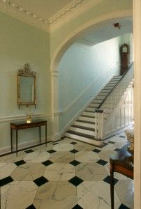 Lower passage in Dumbarton House. Antebellum Homes, Plantation Homes, Entrance Hall, House 2, Historic Homes, Stairs, Local Attractions, Woodland, Interiors