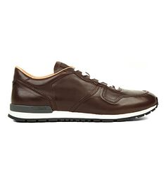 Active leather trainers