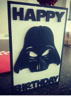 Darth Vader Birthday Card. Star Wars Card by CraftingWithAttitude
