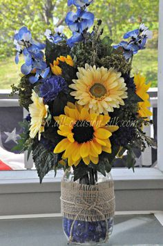 pictures of sunflowers in mason jars - Google Search