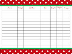 Just Us Four: Christmas. Organized. Shopping List.