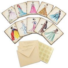 disney princess designer collection notecards - why didn't I see these in the Disney Store before they sold out?