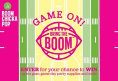 """Angie's BoomChickaPop Bring the Boom! Sweepstakes - Win a 55"""" TV & more! - ends May 15, 2017"""