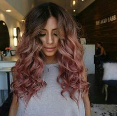 Ombre style hair