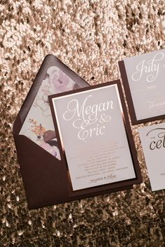 NICOLE Suite Fancy Floral Package, burgundy, rose gold foil, watercolor floral wedding invitations