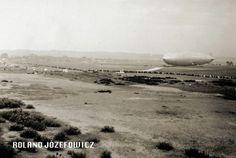 LZ 127 Graf Zeppelin rok 1932 lotnisko we Wrzeszczu/ Langfuhr
