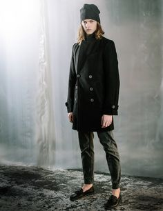 After The Dark - London Over Coat Beanie Cuff Jean Layering Winter Look Book Autonomy Style Street