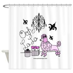 OohLaLaPoodle Shower Curtain on CafePress.com