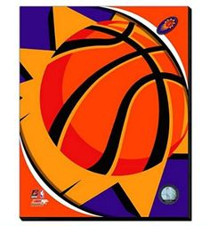 Phoenix Suns Team Logo Canvas Framed Over With 2 Inches Stretcher Bars-Ready To Hang- Awesome & Beautiful