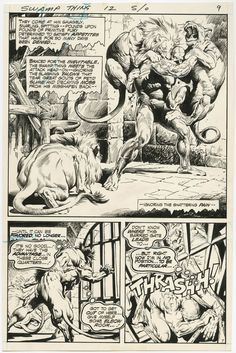SWAMP THING #12 PAGE 7 by Nestor Redondo