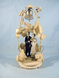 "Vintage 1940's Wedding Cake Top 6 1 2"" Tall | eBay"