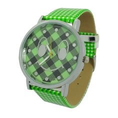 Unisex Smiling Face Pattern Wristwatch with Green Band Unisex Smiling Face Pattern Wristwatch with Green Band [51305] - US$3.16 : Aladdinmart