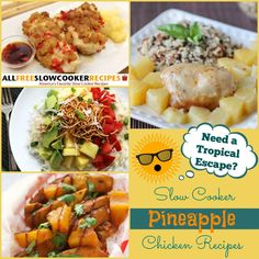 Cold weather is no match for these Slow Cooker Pineapple Chicken Recipes