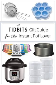 The Ultimate Gift Guide for the Instant Pot obsessed in your life!  Includes the best pressure cookers and every cookbook and accessory they'll ever need. #ChristmasGifts #instantpot #gifts Freezer Meals, Crockpot Recipes, Crock Pot, Instant Pot, Gift Guide, Cooker, Main Dishes, Best Gifts, Lovers