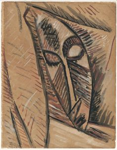 """Pablo Picasso, Study for the Head of """"Nude with Drapery"""", 1907, Museo Thyssen-Bornemisza, Madrid © Succession Picasso/Bildrecht,"""