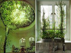 create an indoor garden room | gorgeous indoor gardens. terrific far fetched green living room ...