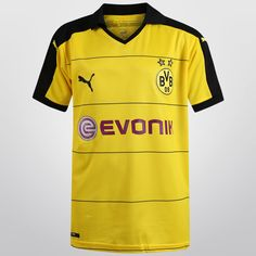 Si tu pequeño campeón admira el juego del conjunto que hace vibrar impresionantemente el Signal Iduna Park, debe poseer el Jersey Infantil Puma Borussia Dortmund Casa 15/16 S/N°.
