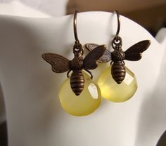 Honey Bees! I have faceted lemon drops, I just need the bee charms. So cute