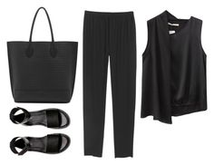 """""""Untitled #3620"""" by michelanna ❤ liked on Polyvore featuring H&M and Mulberry"""