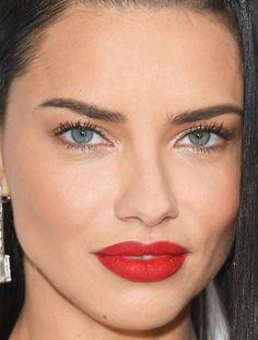 Close-up of Adriana Lima at the 2017 Elton John AIDS Foundation Oscar viewing party.