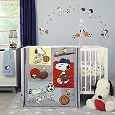 Animals Big Clearance Sale White Able Bedtime Originals Snoopy Sports Musical Baby Crib Mobile