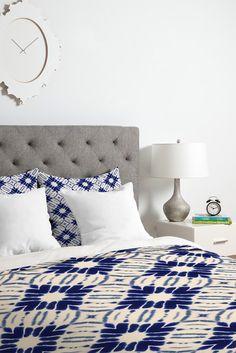 Jacqueline Maldonado Watercolor Shibori Blue Duvet Cover Set