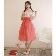 생활한복 철릭원피스 허리치마 세트 복숭아7부 Two Piece Skirt Set, Skirts, Vintage, Dresses, Style, Fashion, Vestidos, Swag, Moda