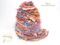 Karma Fiber Art Yarn. 16 Yard Novelty Yarn, Ribbon and Art Fiber Bundle. by Panachely on Etsy
