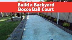 Build a Backyard Bocce Ball Court - My Gardening Space Backyard Garden Design, Backyard Patio, Outdoor Entertaining, Outdoor Fun, Bocce Ball Court, Backyard Games, Backyard Ideas, Fire Pit Patio, Diy Deck