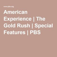 Gold Rush games from the American Experience website