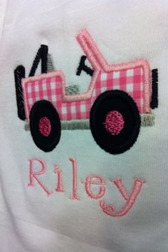 Appliqued Jeep Shirt for Kids by LaBarrieLittles on Etsy, $24.00
