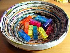 Magazine Paper Bowl | AllFreePaperCrafts.com