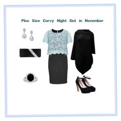 """""""Plus Size Curvy Night Out in November"""" by jessicasanderstx ❤ liked on Polyvore featuring maurices, Manon Baptiste and GCGme"""