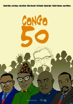 Congo 50 / Africalia, 2010  Het stripalbum 'Congo 50' bevat het werk van 8 Congolese striptekenaars. Om de eerste vijftig jaar onafhankelijkheid te vieren van de Democratische Republiek Congo werden hun talenten verenigd.