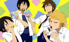 Danshi Koukousei no Nichijou (Daily Lives Of High School Boys) Wallpaper - Zerochan Anime Image Board School Boy, School Humor, Anime Komedi, High School Funny, Danshi Koukousei No Nichijou, School Rumble, Yato And Hiyori, Comedy Anime, Boys Wallpaper