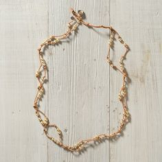Scattered Pearls Bracelet, Natural in Jewelry+Accessories JEWELRY All Jewelry at Terrain *leather